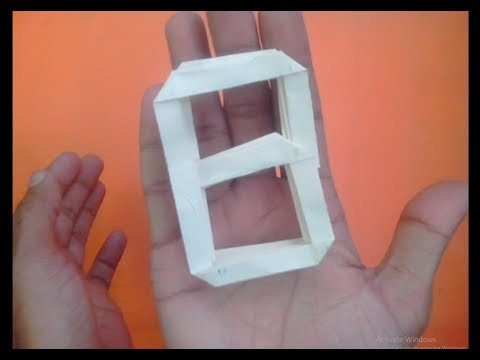 How To Make a Paper Origami Letter \