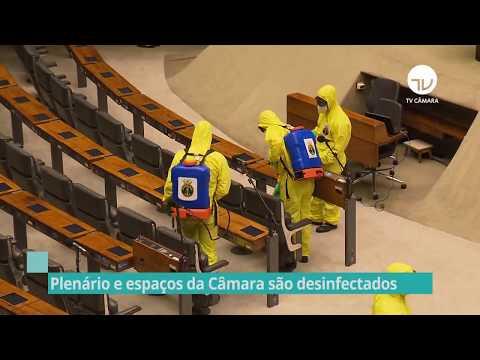 Plenário e espaços da Câmara são desinfectados - 05/06/20
