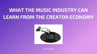 Insights TFoM : The Music Industry and the Creator Economy (ft. Appetite For Distraction)
