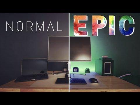 EASY to Install RBG Light Strips for an EPIC Desk Setup