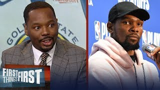 Vincent Goodwill reacts to KD's message to the media ahead of free agency | NBA | FIRST THINGS FIRST