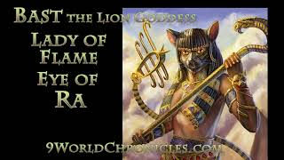 Bast the Lion Headed Goddess of Kemetic Myth Annunaki Primordial From Sirius B The Eye of Ra