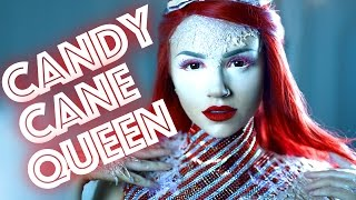 Candy Cane Queen Makeup Tutorial