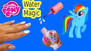 MLP Water Magic Rainbow Dash Nail Polish Art Kit My Little Pony Toy Review Fail Video Unboxing