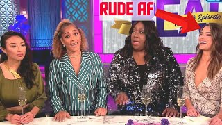 AMANDA SEALES CHECKS RUDE TV HOST *edges snatched*  #therealdaytime #amandaseales