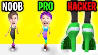 Can We Go NOOB vs PRO vs HACKER In HIGH HEELS APP!? (ALL LEVELS!)