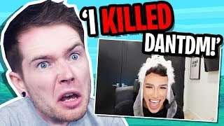 James Charles KILLED ME in Minecraft! *not clickbait*