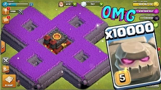 10000 golem attack in clash of clans OMG heaviest attack ever in coc history | Kholo.pk