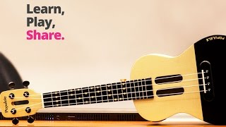 Смарт гитара Populele U1 укулеле (гавайская гитара) от компании 1CLICK  Электроника из Китая и США - видео