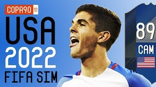 How Good Pulisic & The USMNT Will Be at 2022 World Cup - FIFA 18 SIM   Ep. 7