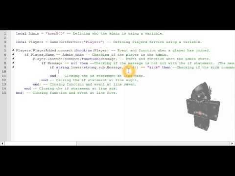 how to make a kick script roblox studio! - смотреть онлайн