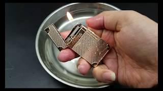 Bật lửa Dupont Vàng hồng Siêu Phẩm chống nước D75 | Deva.vn | Giá 750.000 Đ
