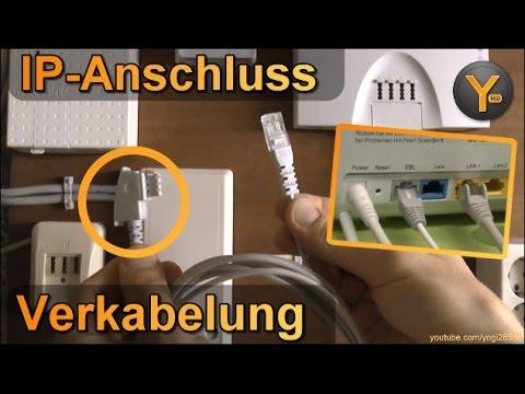 Anleitung: DSL-Verkabelung am IP-Anschluss / Router verbinden