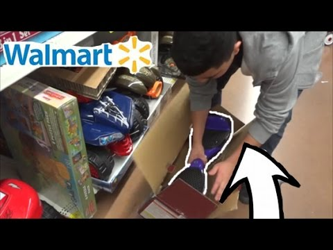OPENED HOVER BOARD INSIDE WALMART AND RIDING IT!