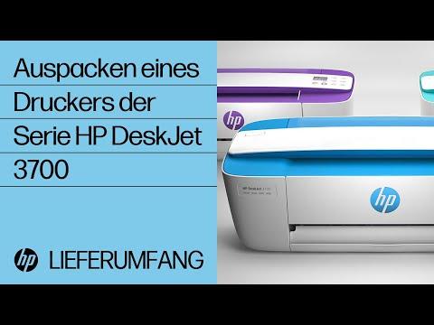 Auspacken eines Druckers der Serie HP DeskJet 3700