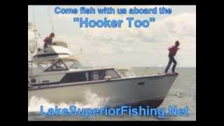 lake superior fishing boat - hooker too.wmv
