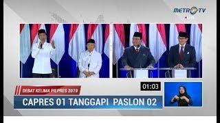 Debat Kelima Pilpres Part 2: Baru Dimulai, Prabowo Sudah Kena Skak Jokowi Soal Mengelola Ekonomi