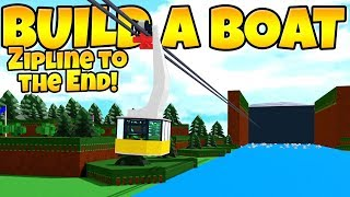 MICRO BLOCK ZIPLINE TO THE END! Build a Boat