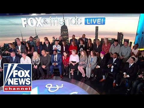 'Fox & Friends' hosts its first show in front of a live studio audience