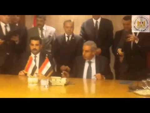 الوزير/طارق قابيل يوقع مذكرة تفاهم مع العراق لتلبية احتياجات العراق من بعض السلع الغذائية المصرية