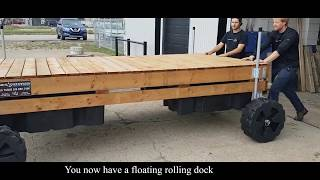 How to install: dock wheels on floating dock
