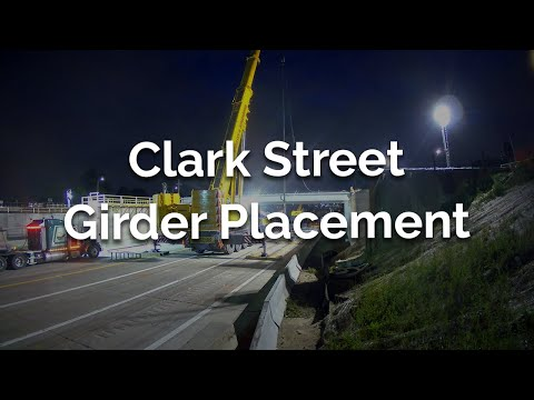 Time-lapse of Girder Placement at Clark Street
