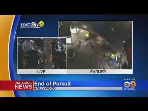 Download Pursuit Ends In Hollywood, Suspect Still Active Mp4 HD Video and MP3