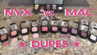 NYX Vs MAC Eyeshadow Dupes (Part 3)