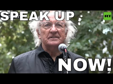All of us are in danger': John Pilger delivers warning from Julian Assange
