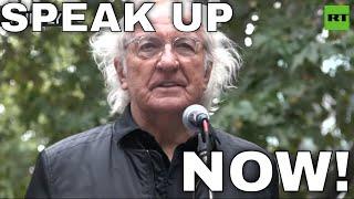 'All of us are in danger': John Pilger delivers  warning from Julian Assange