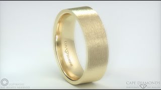 525. Flat Matte Rose Gold Comfort-Fit 7mm Wide Mens Wedding Rings Cape Town South Africa
