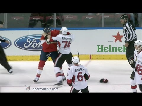 Shawn Thornton vs. Mark Borowiecki