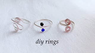 Diy Rings/how To Make Simple And Delicate Stackable Rings At Home/wire Wrapped Rings/wire Toe Rings