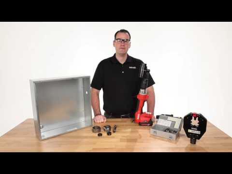 RIDGID RE 6 Electrical Tool Punching Capabilities