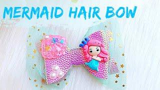 Mermaid Hair Bow // How To Make Bows // Hair Bow Tutorial // DIY Hair Bows || Miss O Crafts