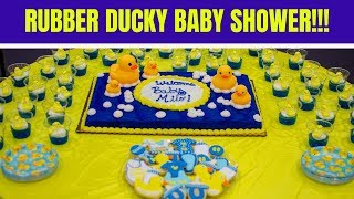 DIY RUBBER DUCKY BABY SHOWER!