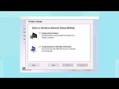 Connecting Your Printer to a Wireless Network Using the Buttons on the Printer