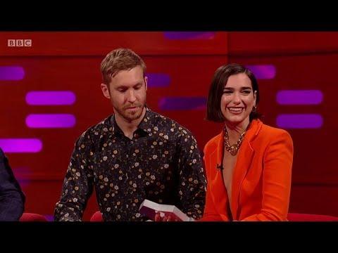 Calvin Harris & Dua Lipa – One Kiss (sample) + Interview on The Graham Norton Show. 2018