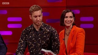 Calvin Harris & Dua Lipa – One Kiss (sample) + Interview On The Graham Norton Show. 2018