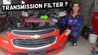 WHERE IS THE TRANSMISSION FILTER ON CHEVROLET CRUZE AND CHEVY SONIC