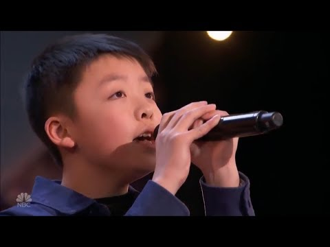 Jeffrey Li: Boy 13-Year-Old Get A Dog From Simon With  'You Raise Me Up' | America's Got Talent 2018