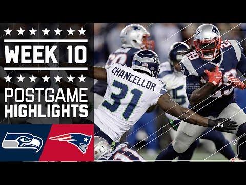 #4 Seahawks vs. Patriots | NFL Week 10 Game Highlights