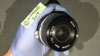 How to adjust focus to infinity in Pre-Ai Nikkor 35mm 1:2.8