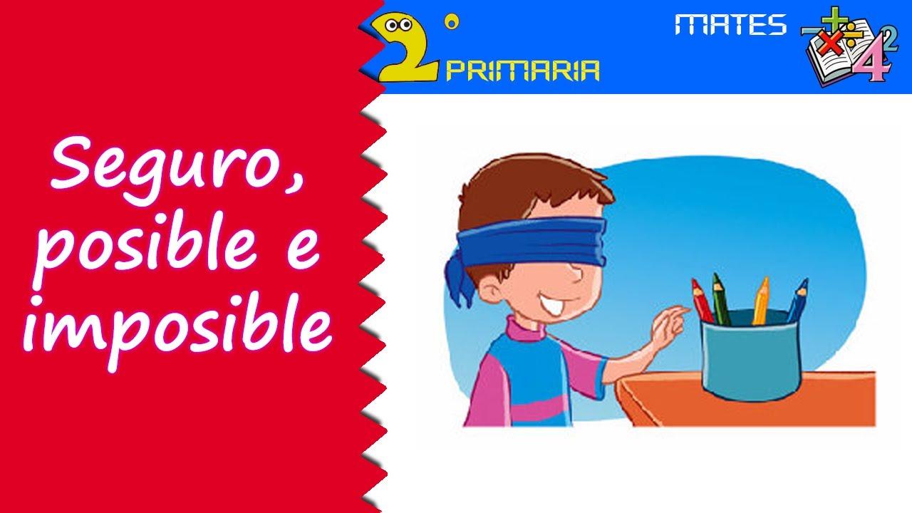 Mate, 2º Primaria. Tema 15. Seguro, posible e imposible