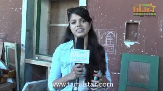 Actress Pooja Speaks at Andhra Mess Shooting Spot