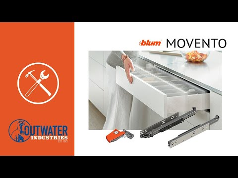 """15"""" Long Tip-On Blumotion for Movento Undermount Drawer Slide"""
