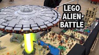 LEGO Steampunk Village Alien Invasion Battle | Brickworld Indy 2019