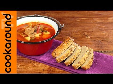 Zuppa di gulash / Ricetta ungherese carne di manzo