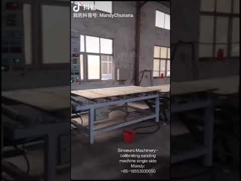 automatic sanding line with calibrating sander upper and down side sanding line