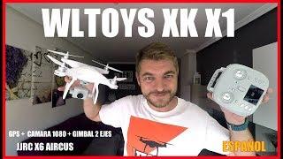 ???? WLTOYS XK X1, Drone GPS camara 1080p con GIMBAL de 2 ejes, JJRC X6 Un Phantom 4 en miniatura